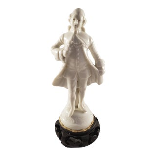 French Sevres Renaissance Era Man Porcelain Statue For Sale