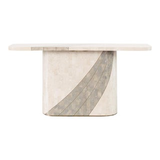Late 20th Century Vintage Tessellated Stone Console Table For Sale