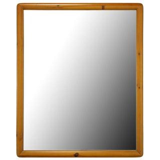 Franklin Shockey Rustic Modern Heart Pine Mirror For Sale