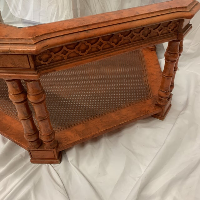 Orange Chinese Chippendale Coffee Table For Sale - Image 4 of 13