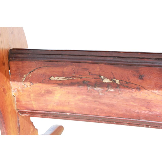 Antique Country Pine Farm Table For Sale - Image 12 of 13