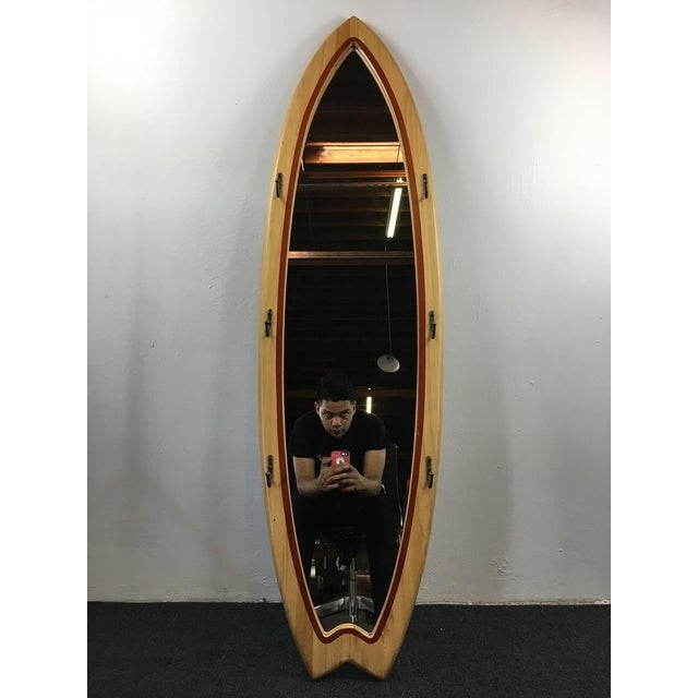 Surfboard Shaped Floor Mirror For Sale - Image 5 of 5