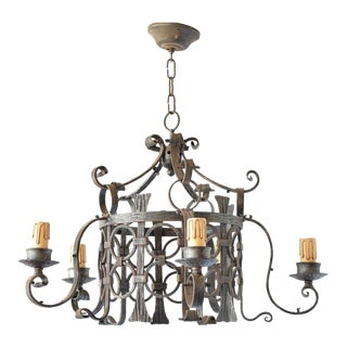 Iron Circles Chandelier For Sale