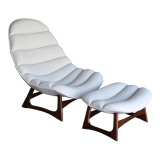 Adrian Pearsall Lounge Chair and Ottoman for Craft Associates Inc., Circa 1960 For Sale