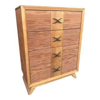 1950s Mid Century Paul Frankl Brown Saltman Dresser For Sale