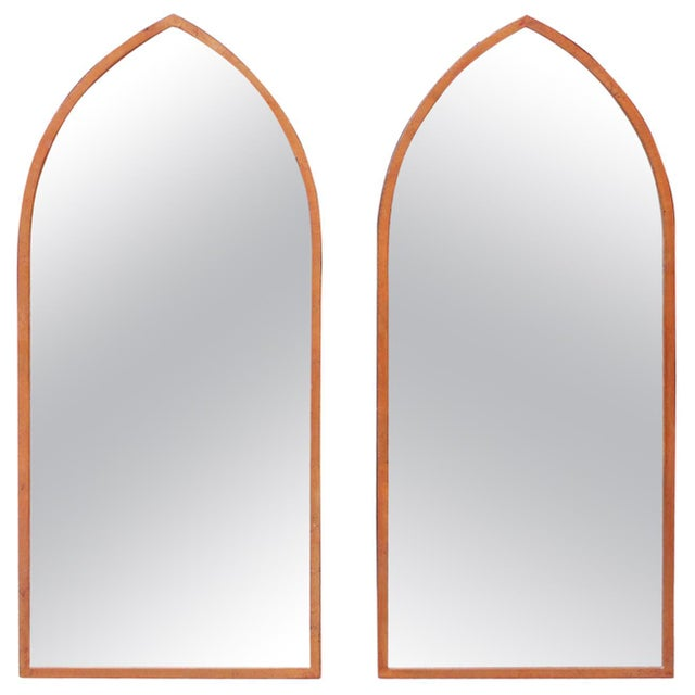 Mid-Century Arched Wall Mirrors With Painted Brass Frames - a Pair For Sale In New York - Image 6 of 6