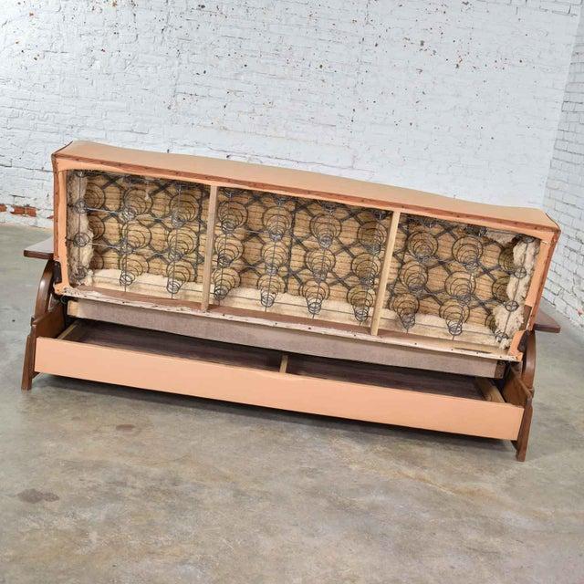 Mid Century Cowboy Western Wagon Wheel Convertible Dude Ranch Sofa For Sale - Image 9 of 13