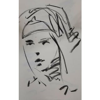 Contemporary Jose Trujillo Original Charcoal on Paper Sketch Drawing - 11x17 For Sale