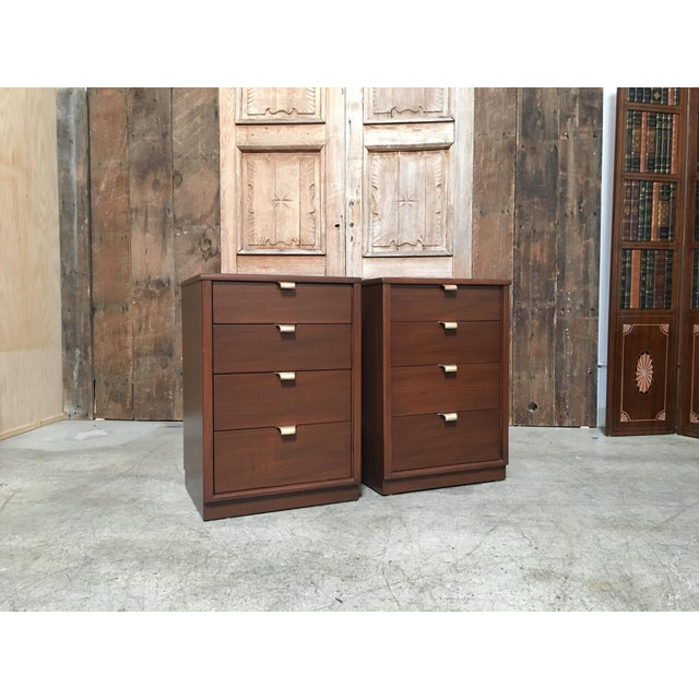 Mid-Century Modern Edward Wormley for Drexel Wood Precedent Nightstands - a Pair For Sale - Image 11 of 11