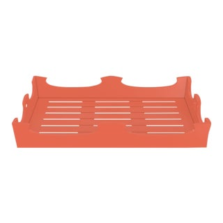 Oomph Ocean Drive Outdoor Console Tray, Orange For Sale