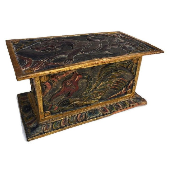 Vintage Balinese Alter Wood Carved Offering Box For Sale - Image 13 of 13