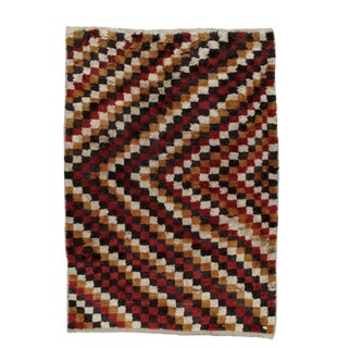 "Checkered ""Tulu"" Rug For Sale"
