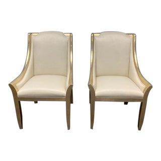 Caracole Sterling Reputation Chairs - A Pair For Sale