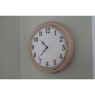 Clock From Factory Wall, Early 20th Century Industrial, Battery Operated Preview
