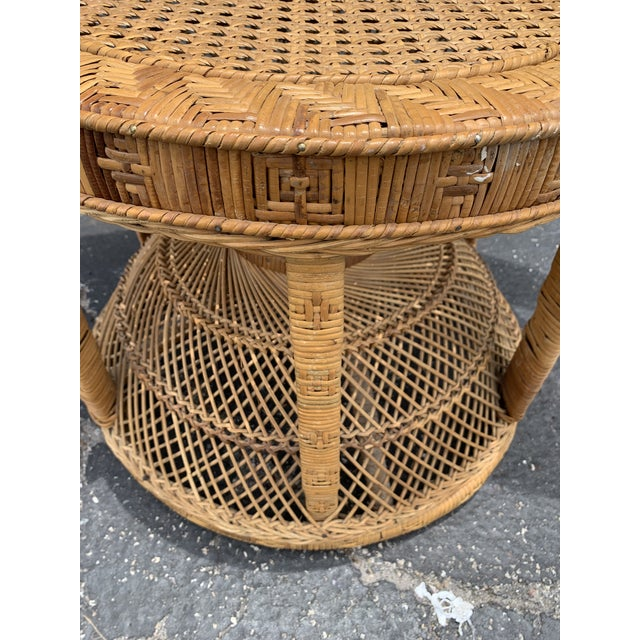 Vintage Wicker Peacock Chair For Sale In Miami - Image 6 of 12