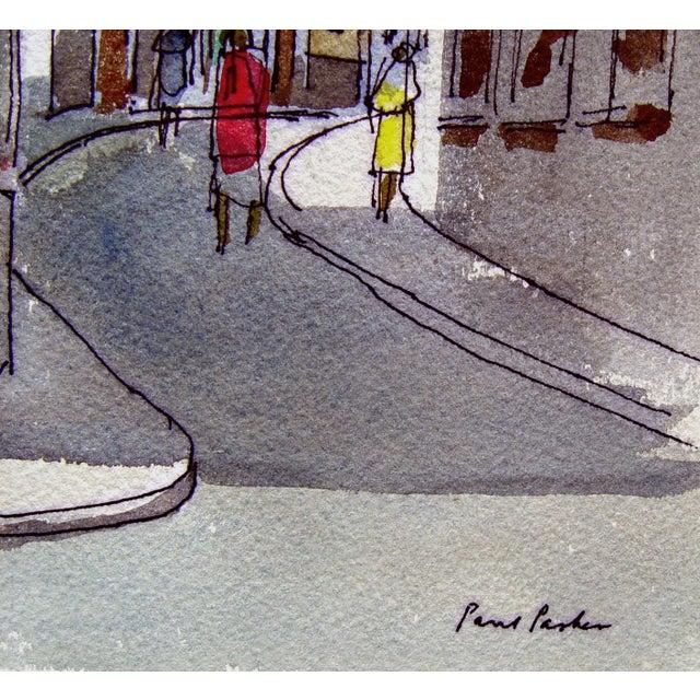"Paul Parker ""Las Palmas"" Watercolor Painting - Image 3 of 3"
