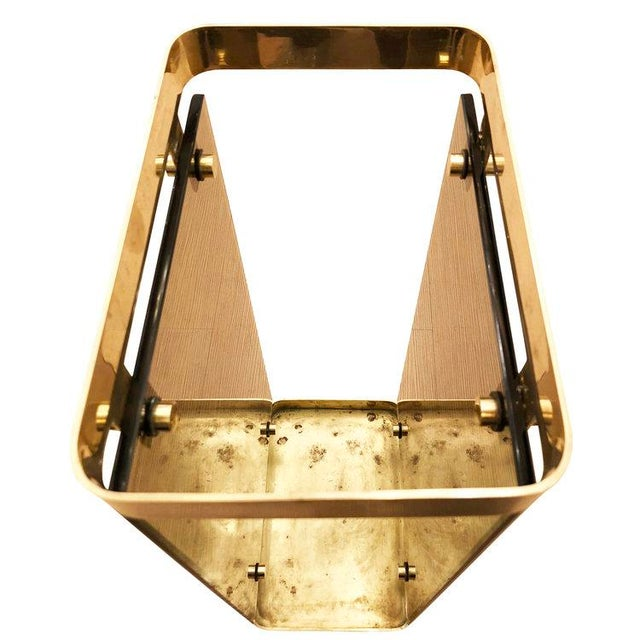 Fontana Arte Brass Umbrella Stand With Smoked Glass For Sale In New York - Image 6 of 7