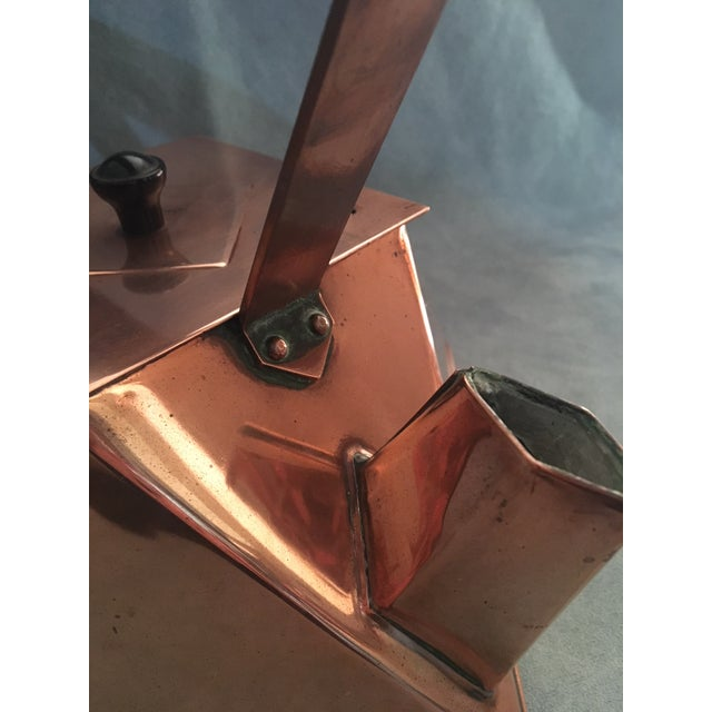 Metal Cubist Copper Kettle For Sale - Image 7 of 10