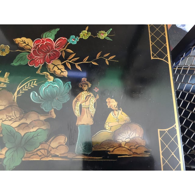 Chinoiserie Signed Katherine Henick Side Table - A Pair For Sale - Image 4 of 9