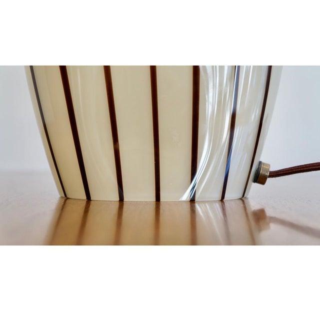 Striped Murano Italian Art Glass Lamp - Image 8 of 8
