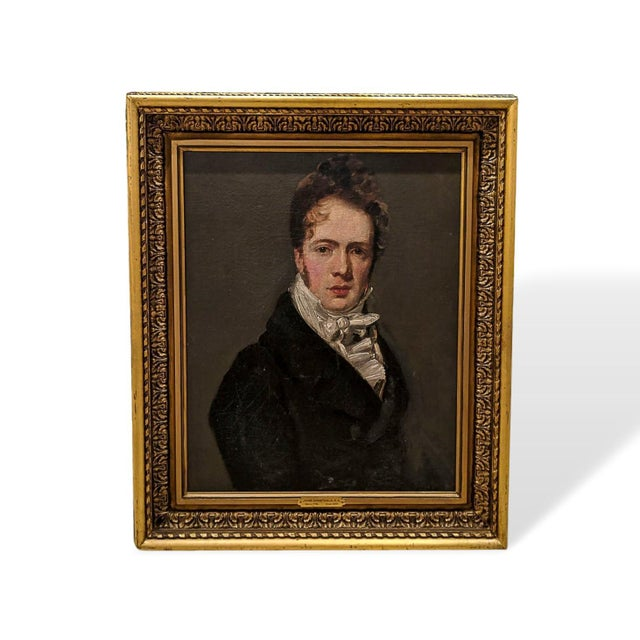 Canvas Manner of John Constable, RA (British 1776-1837) Self Portrait Oil Painting on Canvas For Sale - Image 7 of 7