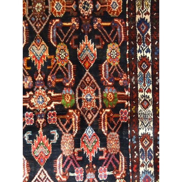 "Antique Kurdish Persian Senah Rug - 3'11"" x 7'10"" - Image 3 of 9"