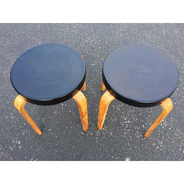 Thonet SOLD-Authentic Thonet Stacking Stool Tables - a Pair For Sale - Image 4 of 11