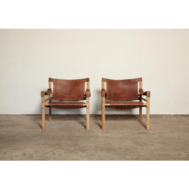 Arne Norell Pair of Arne Norell Sirocco Safari Chairs, Norell Mobel, Sweden, 1970s For Sale - Image 4 of 13