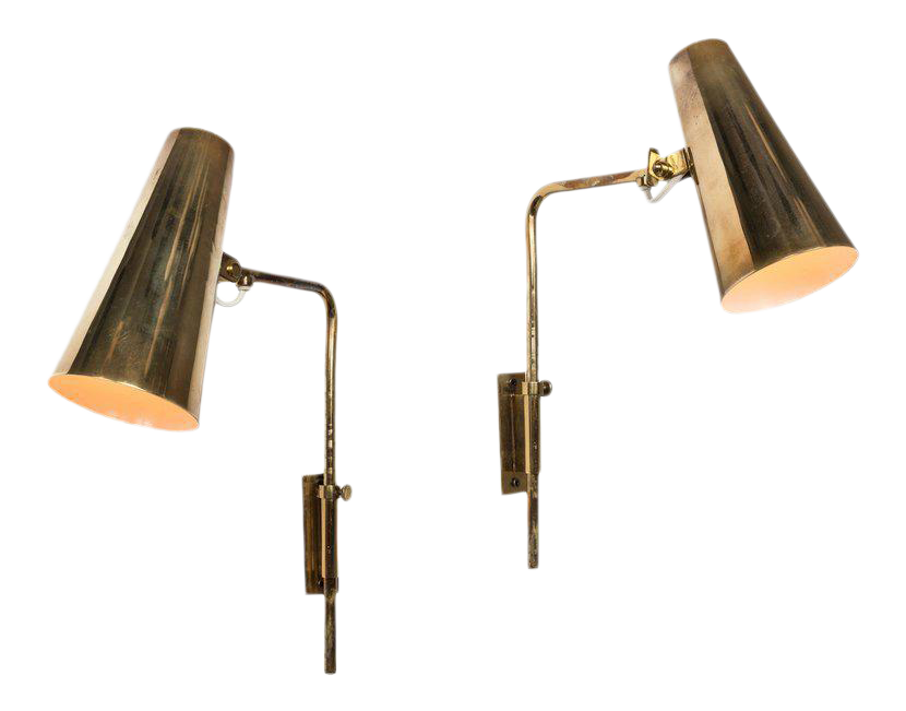 1950s Paavo Tynell For Taito Oy Wall Lights   A Pair