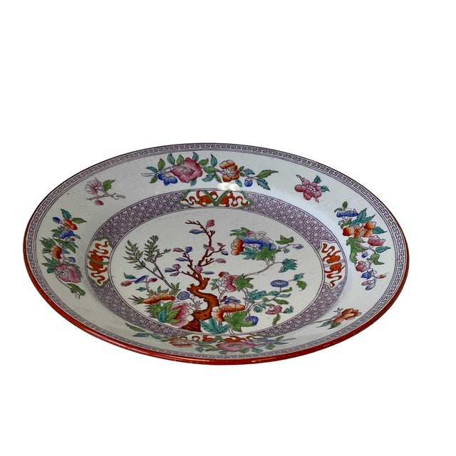 Antique Minton Ironstone India Tree Plate For Sale In Dallas - Image 6 of 9