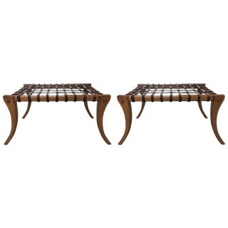 Klismos Benches in the Manner of T.H. Robsjohn-Gibbings - a Pair