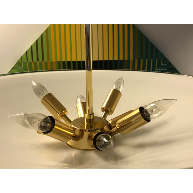 Barovier Murano Glass Disk Chandelier, 1960s For Sale - Image 12 of 13
