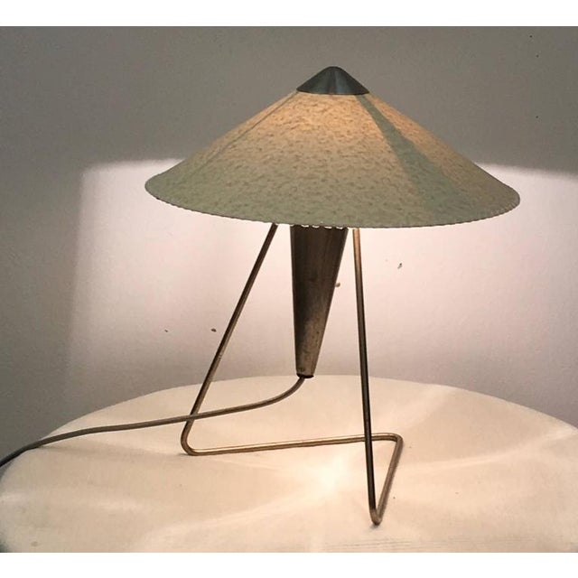 - Steel table or wall lamp with a torch shaped design from the 1950s - Fitted with one E27 socket - This listing is for a...