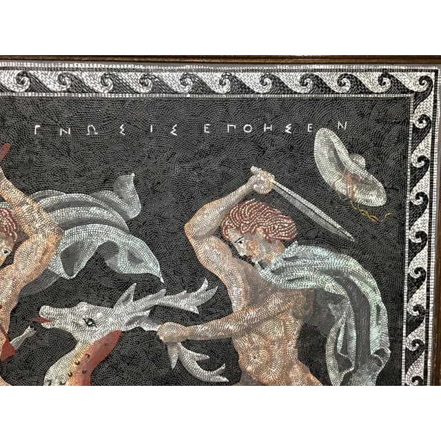 Italian Neoclassical Style Micro Mosaic Panel For Sale In Tampa - Image 6 of 9