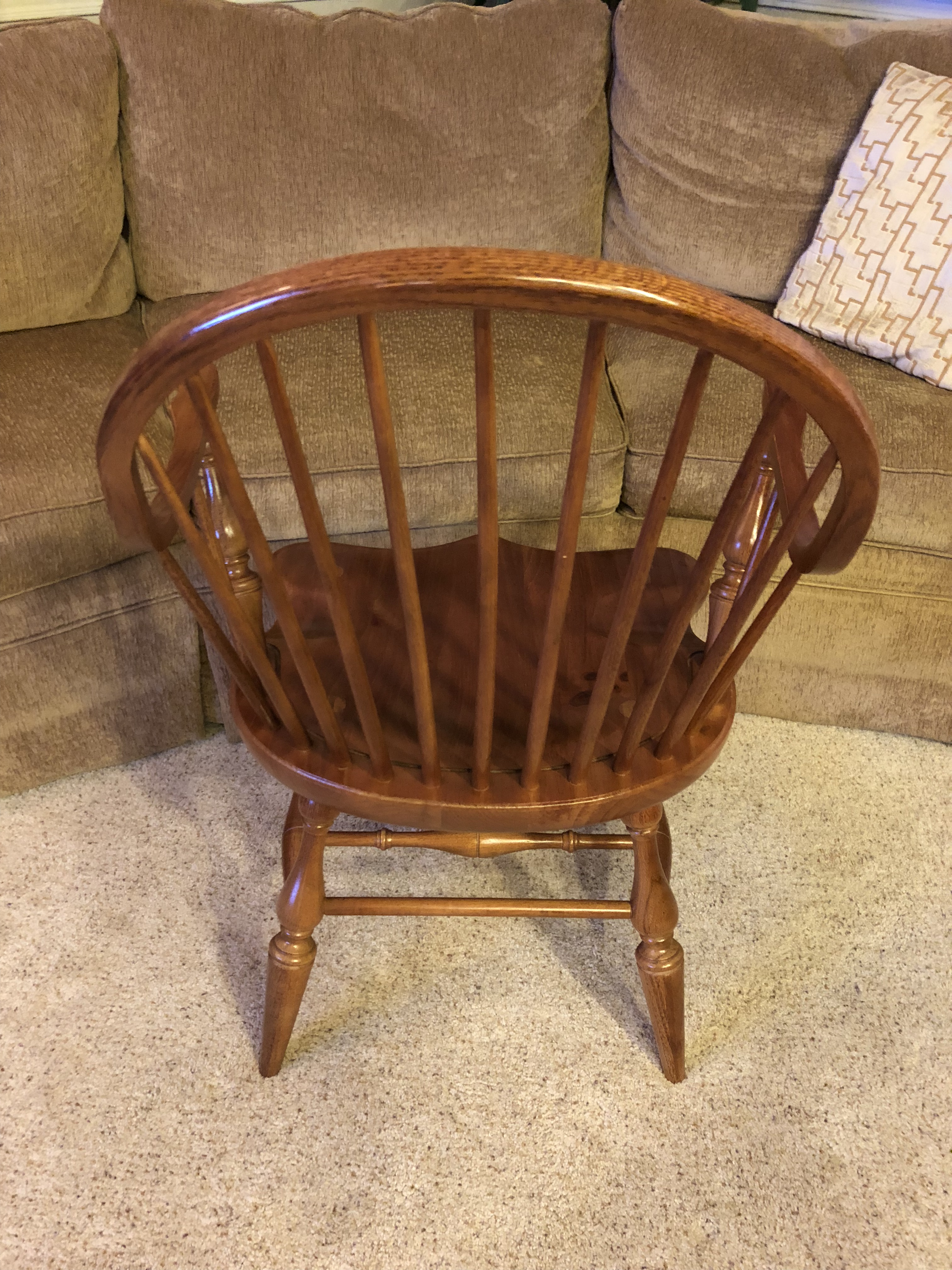 Beau 1950s Vintage Thomasville Windsor Chair For Sale In Sacramento   Image 6 Of  8