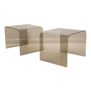 Pair of Pace Collection Glass Side Tables