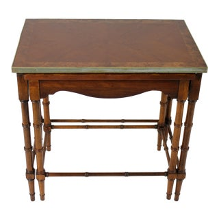 1960s Regency Lane Furniture Walnut Nesting Tables - 2 Pieces For Sale
