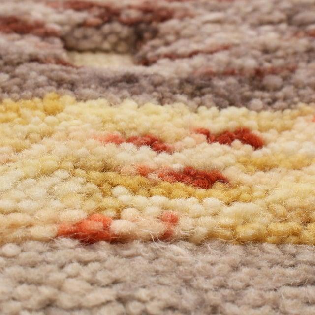 Rug & Kilim Rug & Kilim's Scandinavian-Inspired Geometric Golden-Yellow Gray Wool Rug For Sale - Image 4 of 6