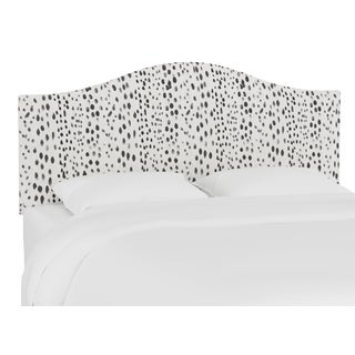 Queen Headboard, Linen Leopard Ink For Sale