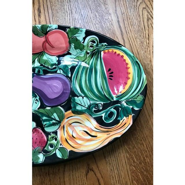 "French Provincial Vicki Carroll Studio ""Bon Appetite"" Oval Serving Platter For Sale - Image 3 of 6"