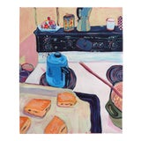 """Image of """"Anna's Stove"""" Contemporary Still Life Acrylic Painting by Sophie Edell For Sale"""