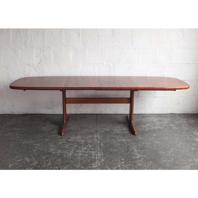 1960s Mid-Century Modern Long Teak Dining Table For Sale In Portland, OR - Image 6 of 6