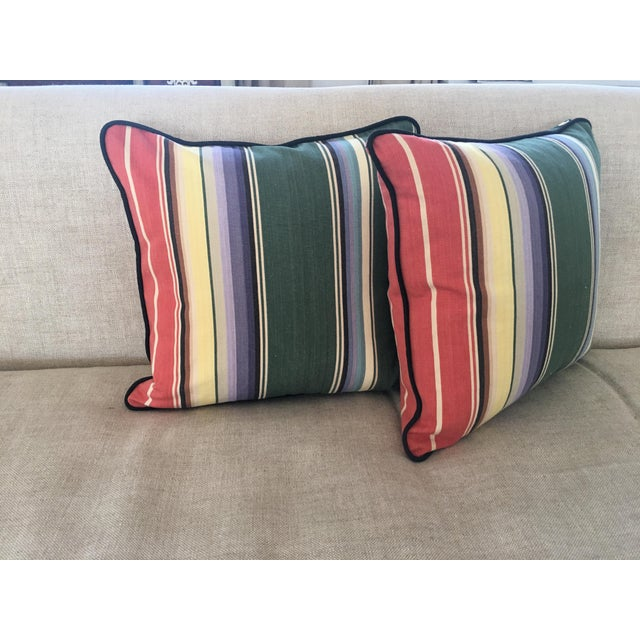 Wonderful, colorful, soft cotton pillows with new down/feather inserts will add a casual vibe to any decor! The vintage...