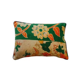 Floral Kantha Pillow Cover For Sale