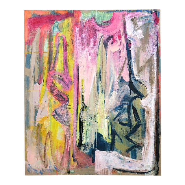 Molly Herman Looming Abstract Painting For Sale