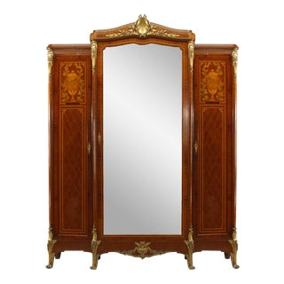 French Louis XVI Style Satinwood Armoire For Sale