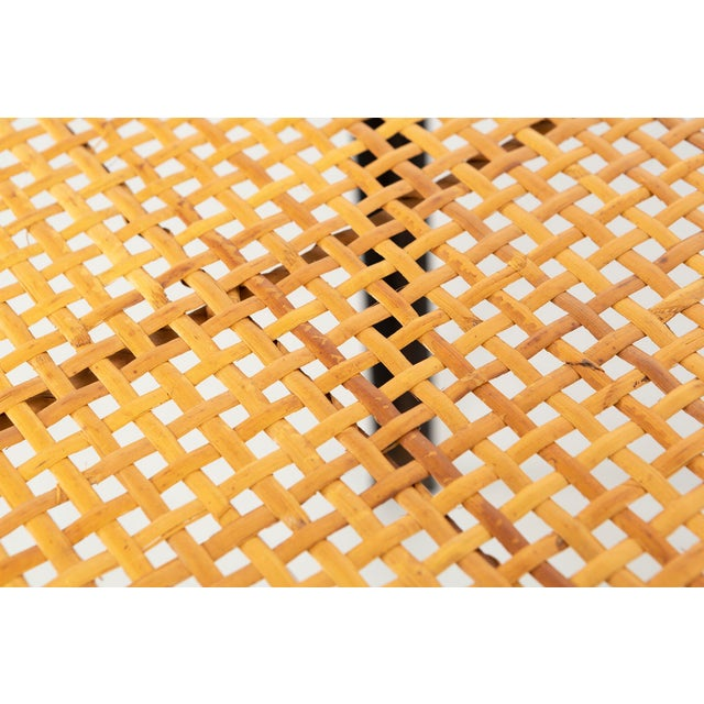 Danny Ho Fong Hand-Woven Reed Dining Table For Sale - Image 9 of 11