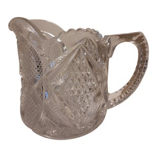 Early 20th C. Cut Glass Drinks Pitcher For Sale
