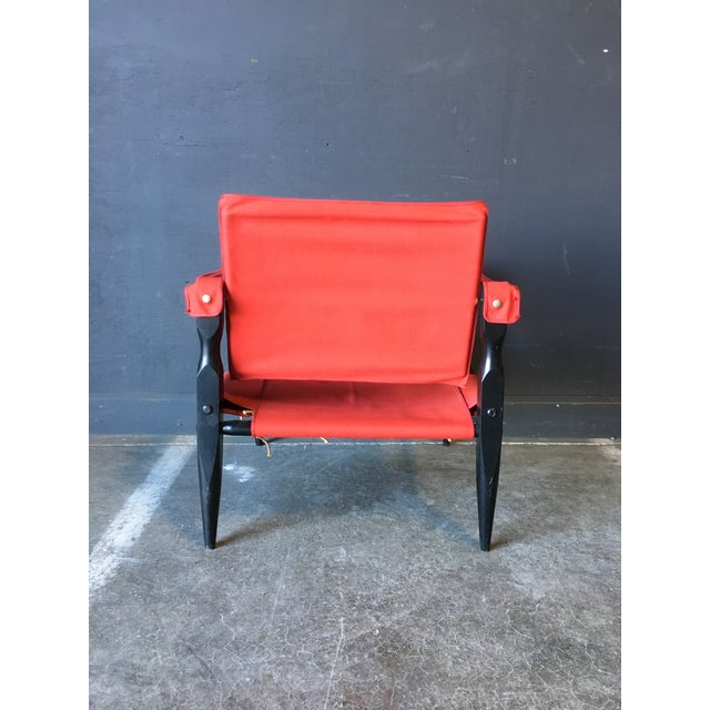1980's Red Safari Chair For Sale - Image 4 of 11
