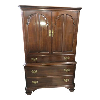 Ethan Allen Georgian Court Cherry Armoire For Sale